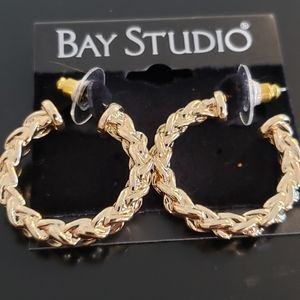 💕Twisted Hoop Pierced Earings Bay Studio